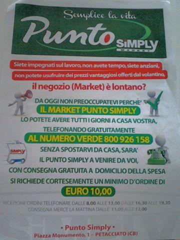 Servizio Gratuito Di Spesa A Domicilio Punto Simply Market